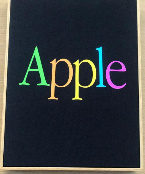 Other feature classic Apple logo, like this one.