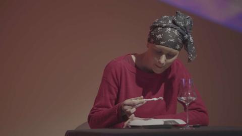 Paciente de cáncer con anosmia