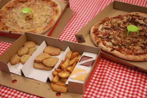 Pizzas y entrantes de Telepizza