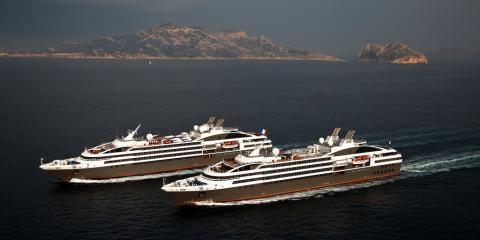 Dos cruceros de Ponant
