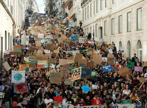 Protestas por el clima en Lisboa