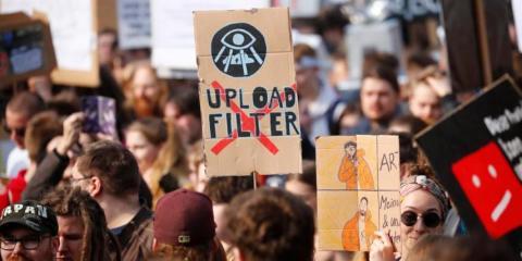 Protesta por la Ley de Copyright