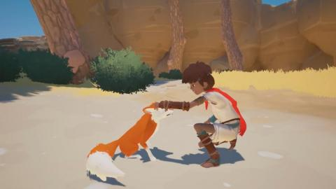 """Rime,"" an adventure game first released in 2017, was used to demonstrate how easily developers can change the art style of their game."