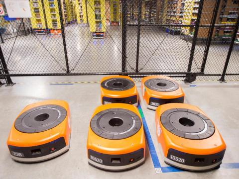 Robots in Amazon's warehouses.