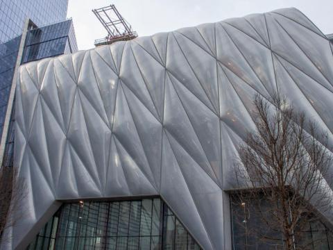 On the south side of the courtyard is the Shed, Hudson Yards' performing arts space that will feature artists in fields including hip hop and classical music, theater, dance, and more.