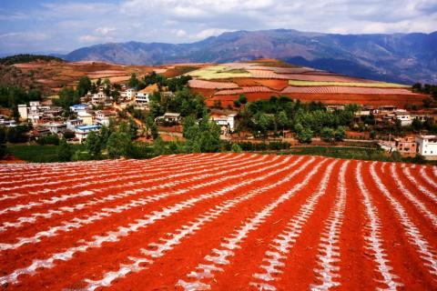 Los fotógrafos pueden capturar imágenes increíbles en la Tierra Roja de Dongchuan.