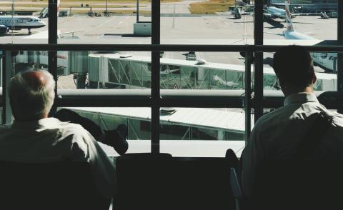 aeropuerto, viajero, viajar