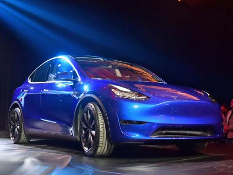 Tesla unveiled its Model Y SUV on Thursday.