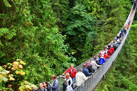 There have been a few deaths on the Capilano Suspension Bridge in Vancouver.