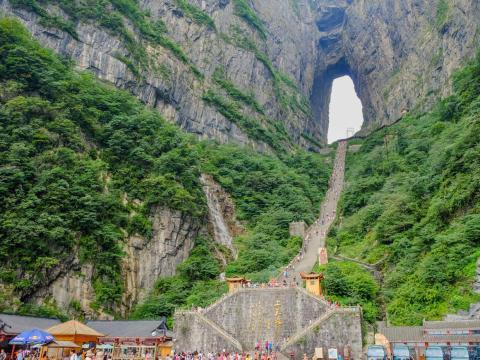 Cueva de Tianmen, Zhangjiajie, China