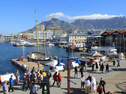 The trip from Cape Town's port takes approximately six days, and the ships leave on an inconsistent schedule — sometimes they set sail multiple times per month and sometimes they skip a month entirely.