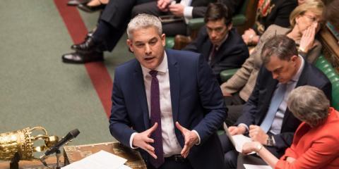 Steve Barclay, secretario para el Brexit de Reino Unido