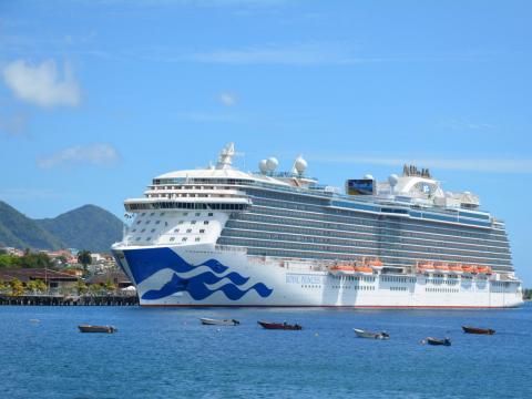 ... but visitors may find their ocean views blocked by massive cruise ships ...