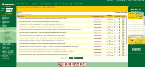 Web de Mercadona.