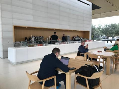 While at the visitor center, you can grab a coffee at the café next door to the store.