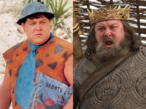 "You might not recognize Mark Addy, who played Robert Baratheon, in one of his earlier roles as Fred Flintstone in ""The Flintstones in Viva Rock Vegas."""