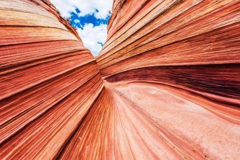 Los colores en esta formación rocosa son impresionantes.