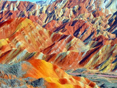 Parque geológico de forma terrestre Zhangye Danxia, Gansu, China