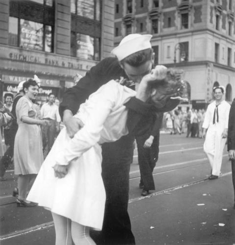 Beso en Times Square el 14 de agosto de 1949