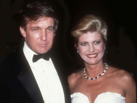 After meeting at a popular uptown watering hole for New York City's singles, Donald Trump and model Ivana Zelnicek were married April 7, 1977.