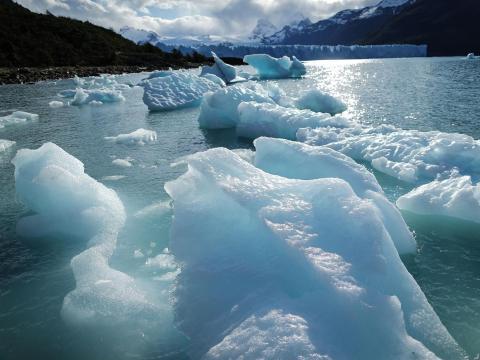 Los glaciares de la Patagonia se están derritiendo rápidamente.