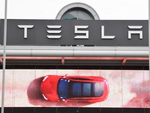 Un anuncio de Tesla en Londres