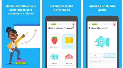 Aplicación para entrenar cerebro Duolingo