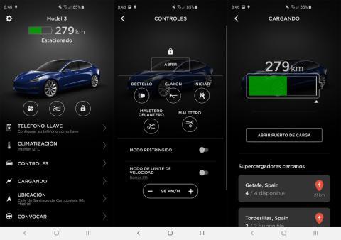 Aplicación de Tesla