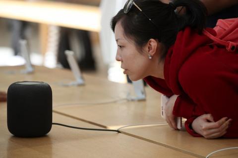El HomePod de Apple.