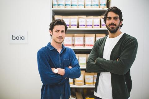 Guillermo Milans del Bosch y Loan Bensadon, cofundadores de  Baïa Food