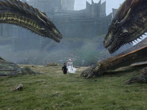 Daenerys lost one of her dragons, Viserion, last season.