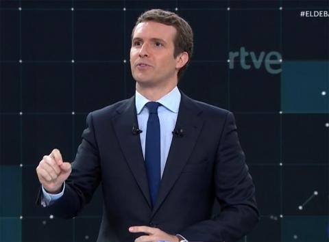 Casado en el debate de RTVE a las Elecciones Generales