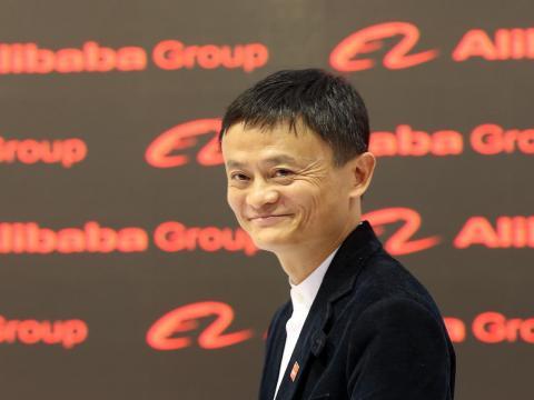 Chinese tech billionaire Jack Ma.