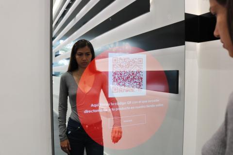 Código QR en espero con inteligencia artificial de Sephora.