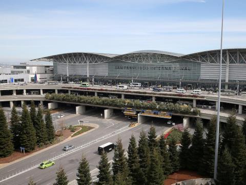 El aeropuerto internacional de San Francisco.