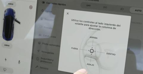Controles del volante del Model 3