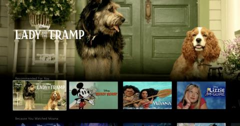 """Demo of the Disney Plus app shows a look at the """"Lady and the Tramp"""" remake."""