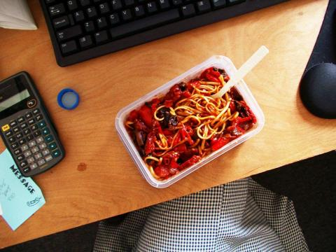 Don't eat lunch — or dinner — at your desk