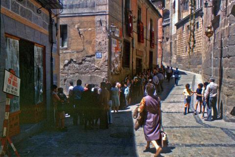 Toledo durante las elecciones generales del 15 de junio de 1977.