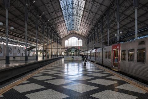 Estación de tren de Rossio en la ciudad de Lisboa