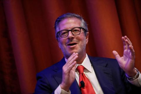 FILE PHOTO - Lee Olesky, co-founder and CEO of Tradeweb Markets LLC., speaks at the Sandler O'Neill + Partners Global Exchange and Brokerage Conference in New York