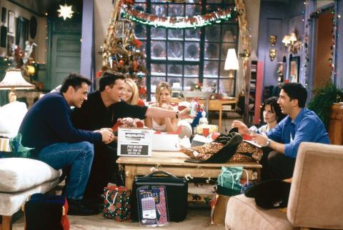 Escena de un capítulo navideño de Friends