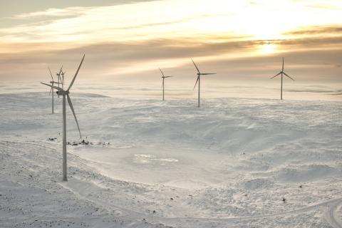 Generadores eólicos en el hielo