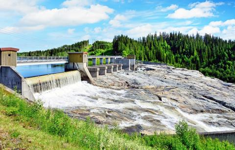Central Hidroeléctrica en Noruega