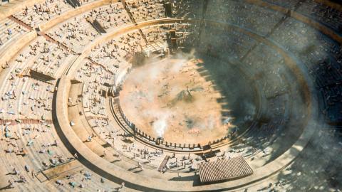 Imagen de Juego de Tronos de la plaza de toros de Osuna.