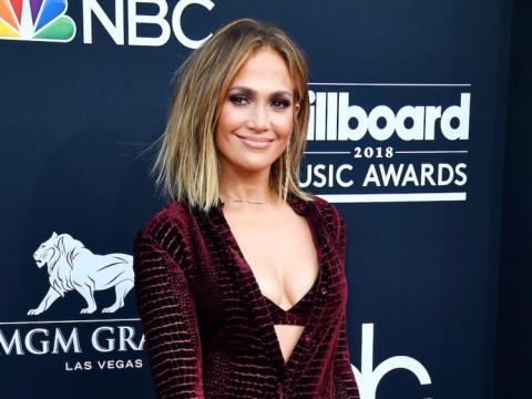 Jennifer López en los Billboard Music Awards de 2018