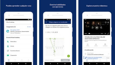 Khan Academy Aplicación para entrenar cerebro