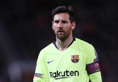 Leo Messi, durante un partido de Champions con el Barcelona