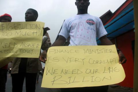 Manifestaciones en Liberia