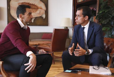 Manuel del Campo, CEO de Axel Springer España (izq) y José María Palomares, presidente de Multinacionales por marca España (dcha)
